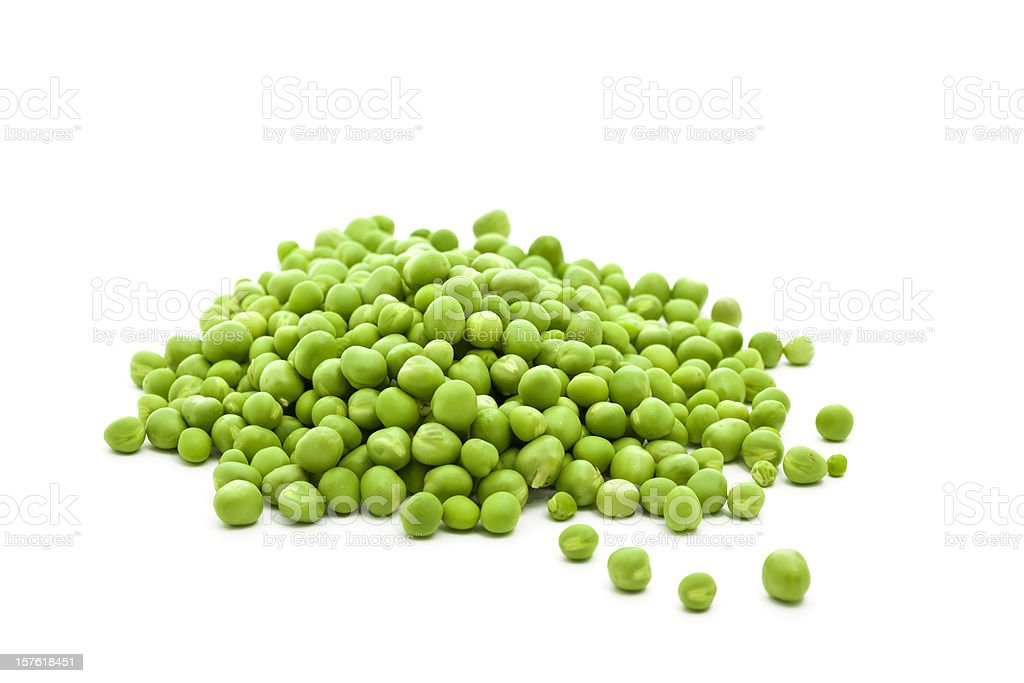 heap of fresh green peas stock photo