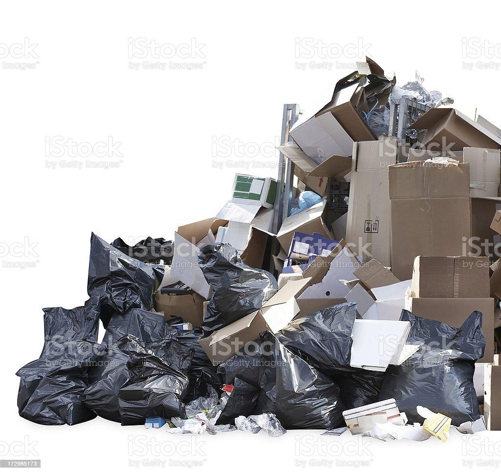 Heap of garbage stock photo