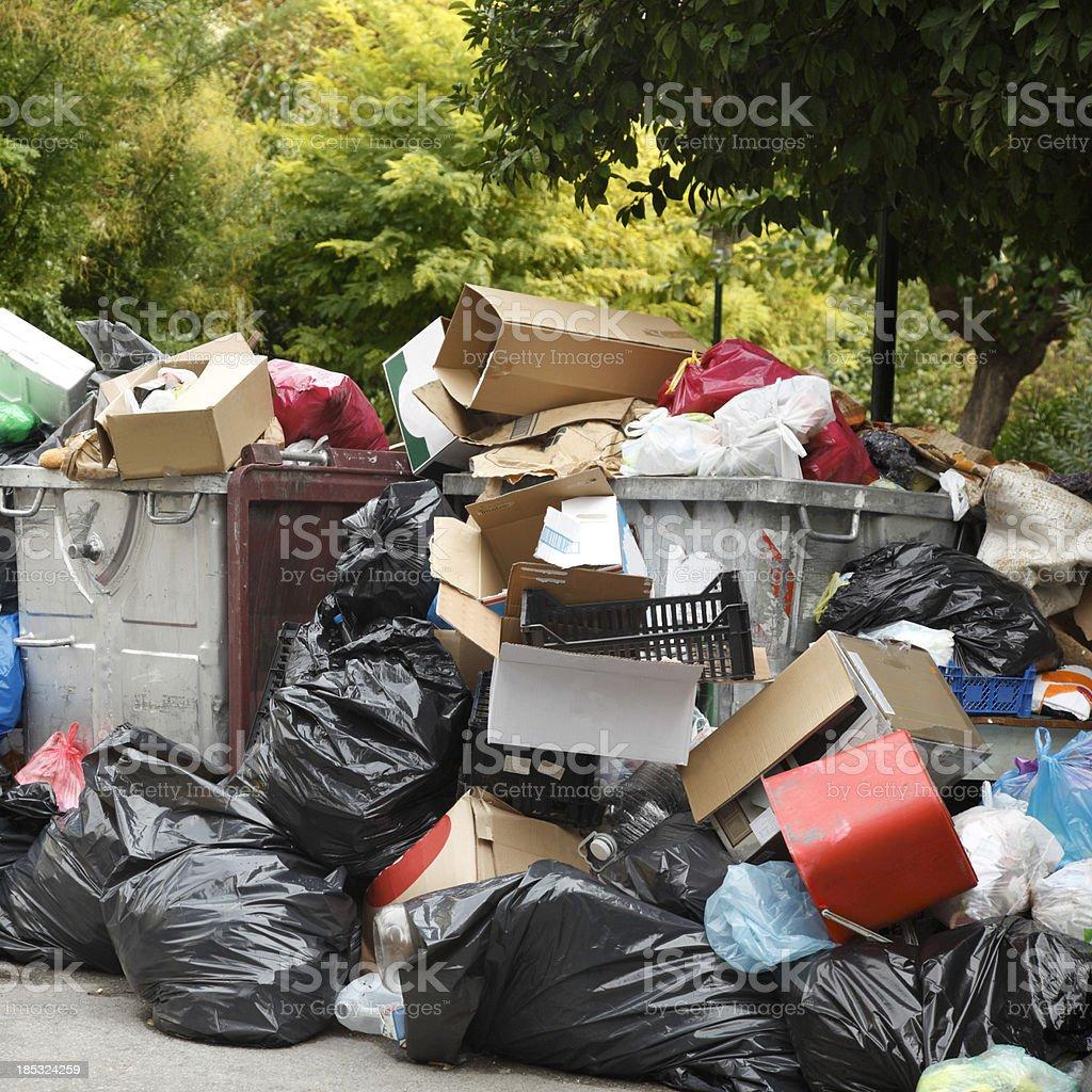 Heap of garbage royalty-free stock photo