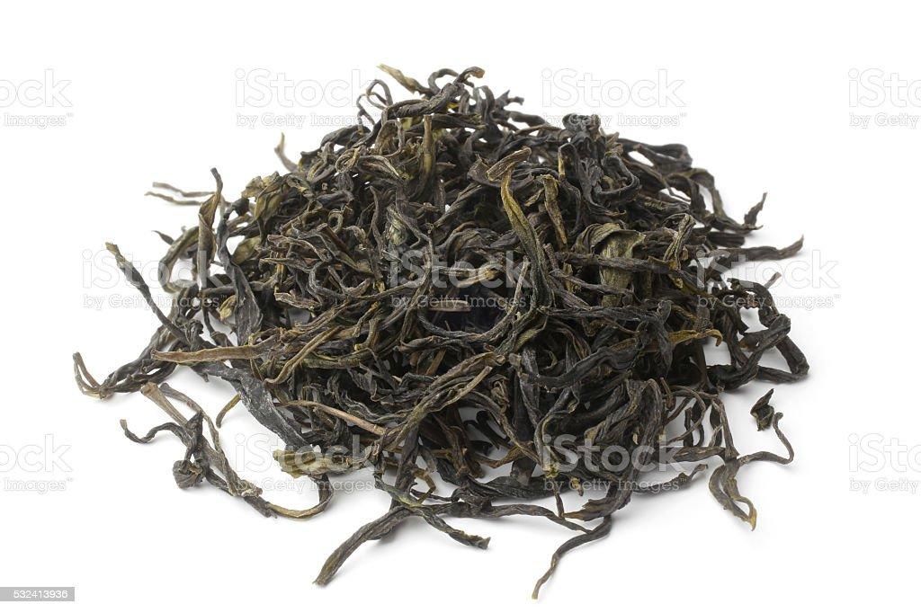 Heap of green tea stock photo
