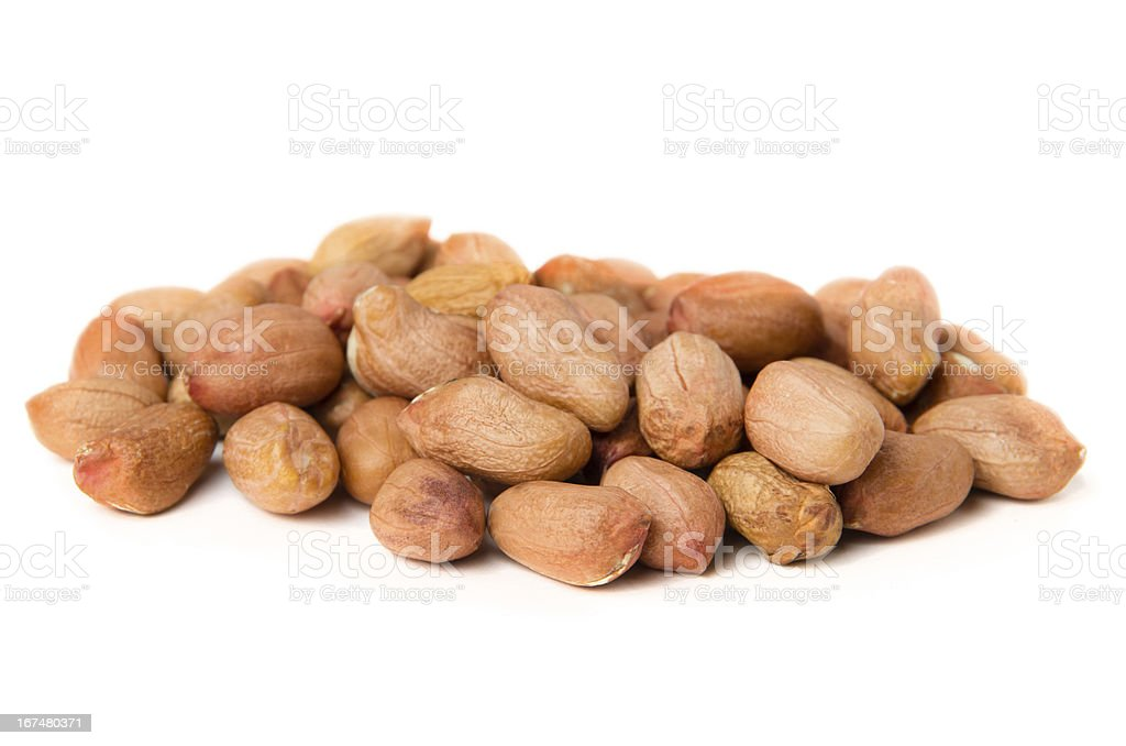 Heap of groundnuts royalty-free stock photo