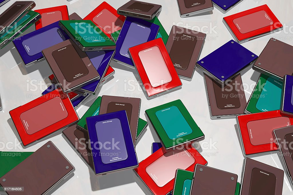 Heap of HDD's stock photo