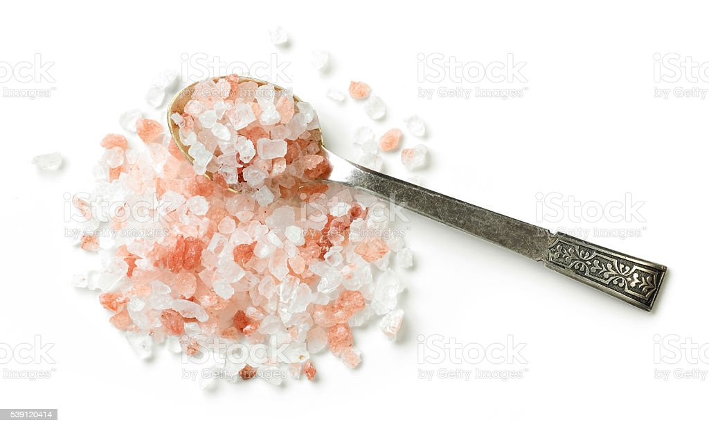 heap of himalayan salt stock photo