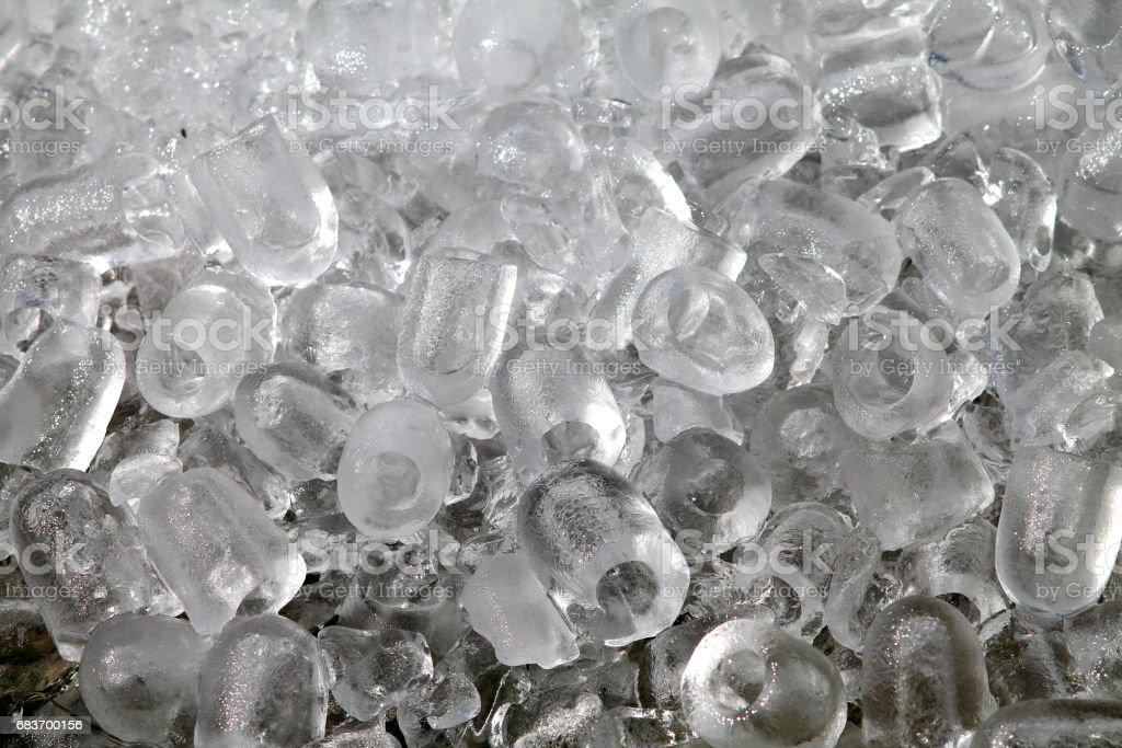 Heap of ice cubes. stock photo