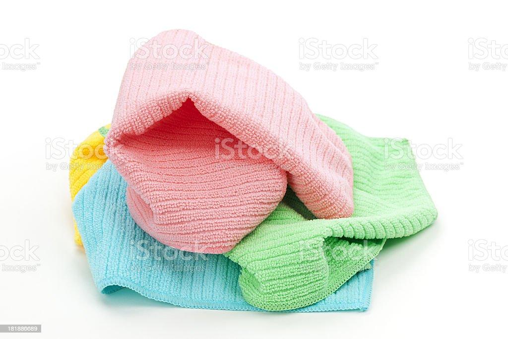 Heap of Laundry or Washcloths Isolated royalty-free stock photo
