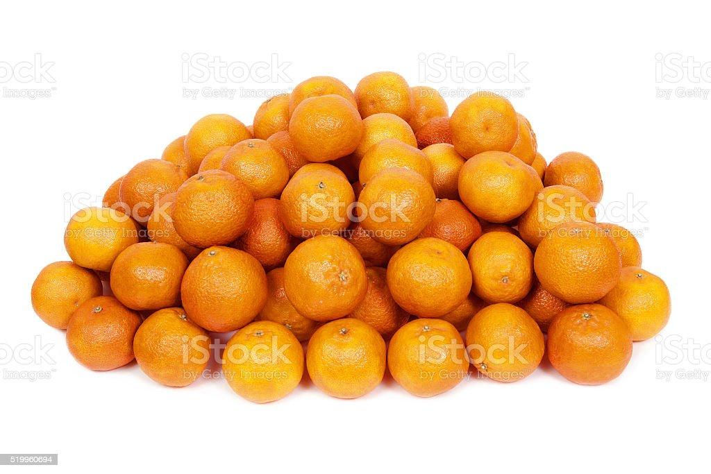 Heap of lush textured mandarins stock photo