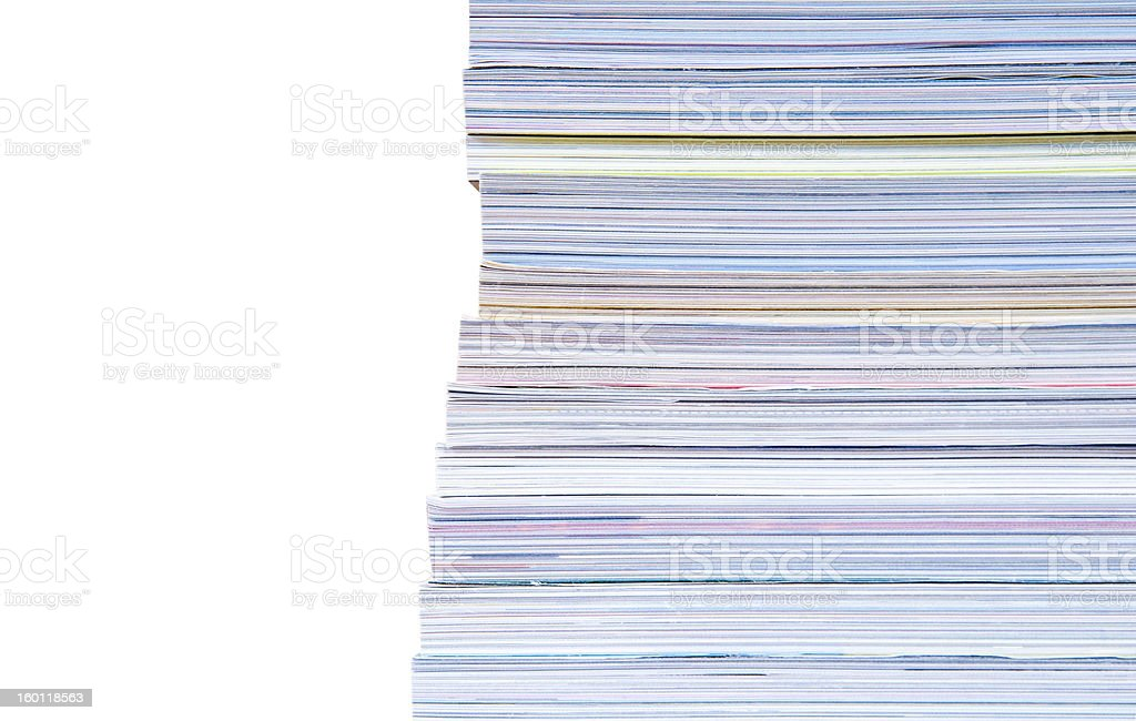 heap of magazines royalty-free stock photo