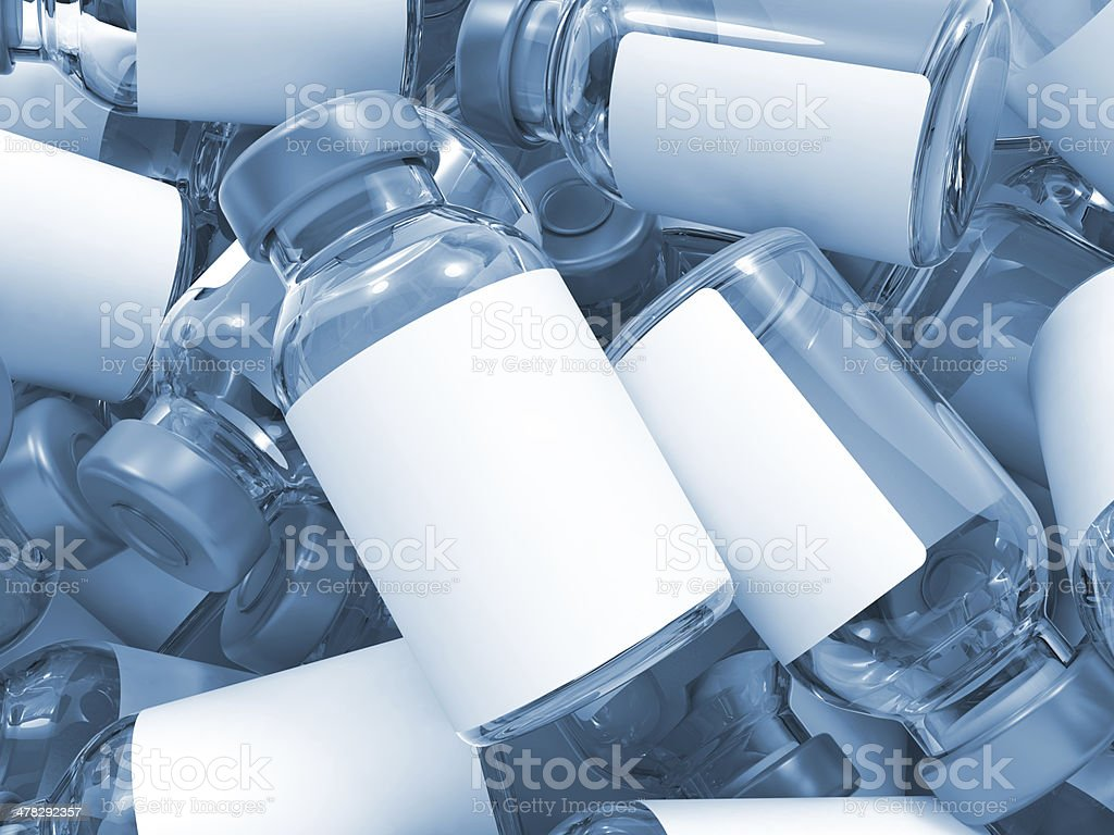 Heap of Medical Ampoules. royalty-free stock photo