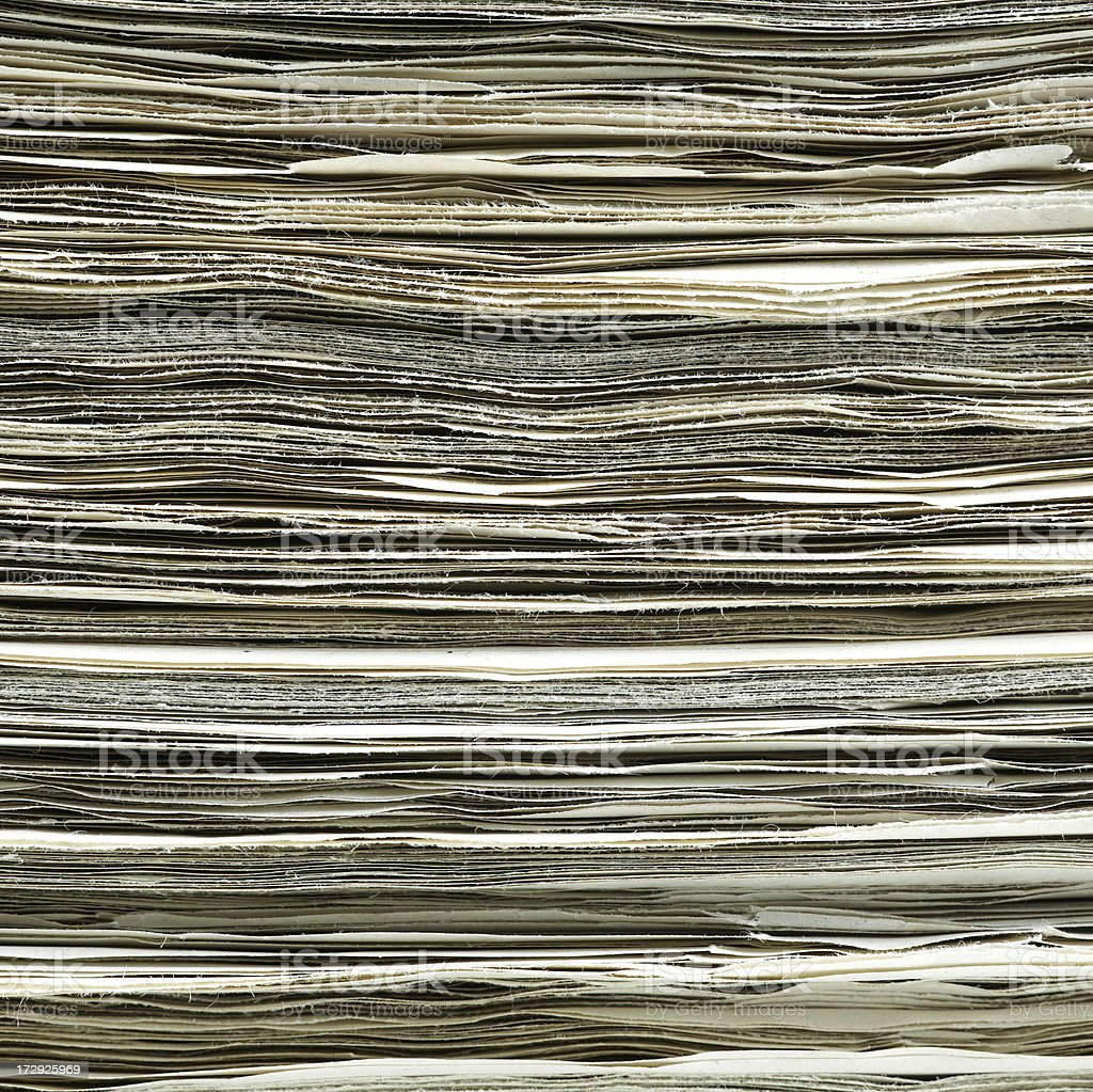 Heap of newspapers royalty-free stock photo