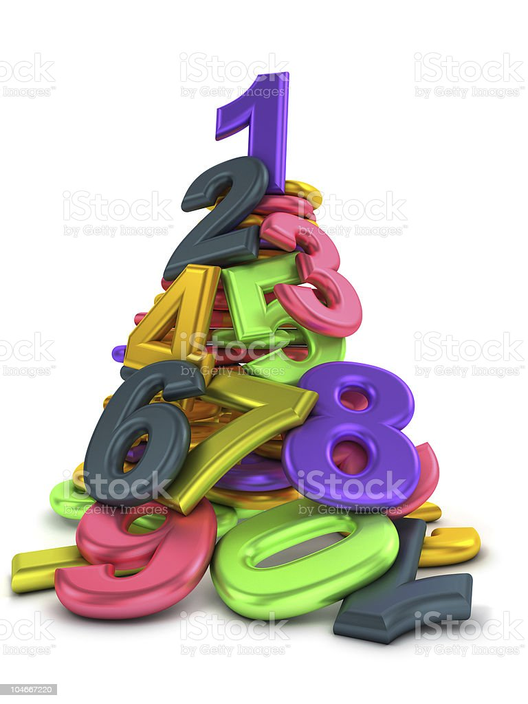 Heap of numbers stock photo