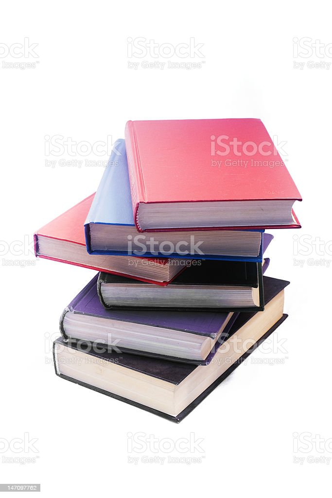 Heap of old books royalty-free stock photo