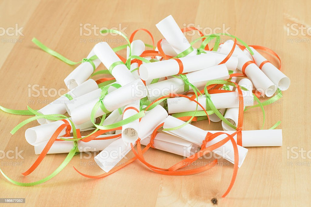 Heap of paper rolls royalty-free stock photo
