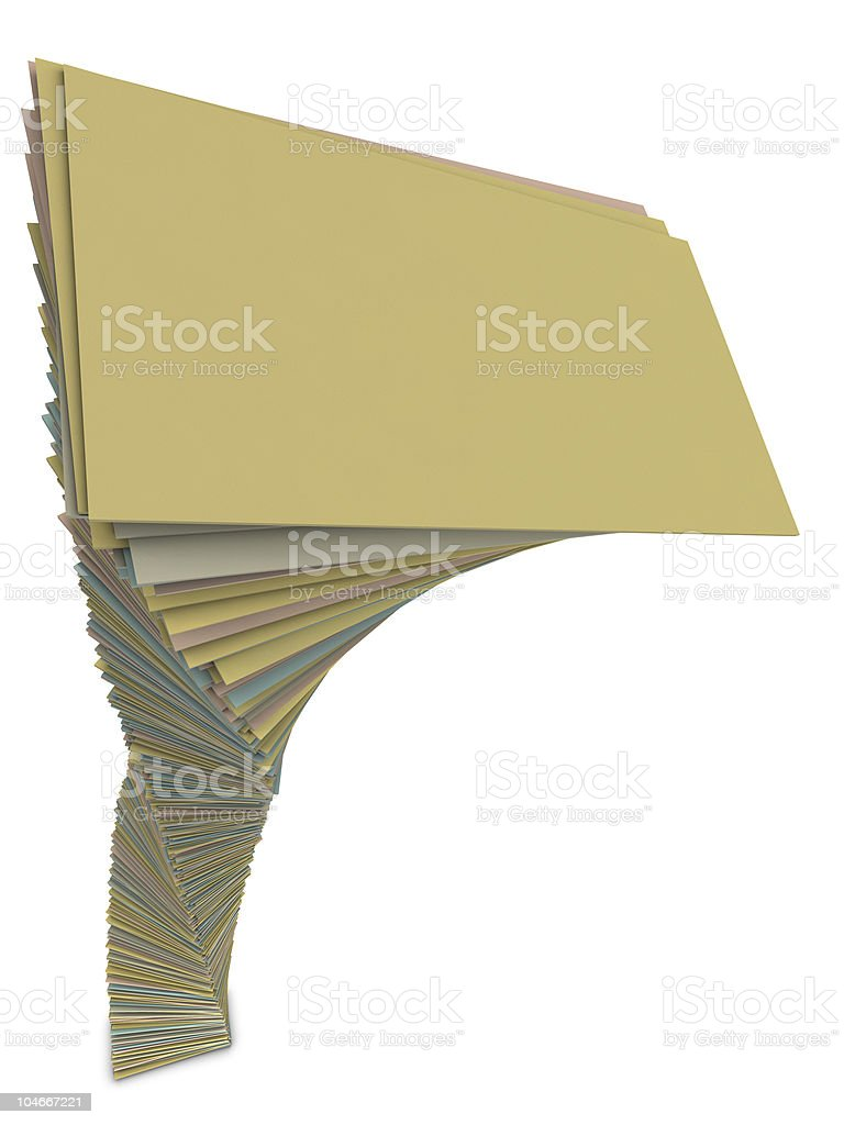 Heap of papers stock photo