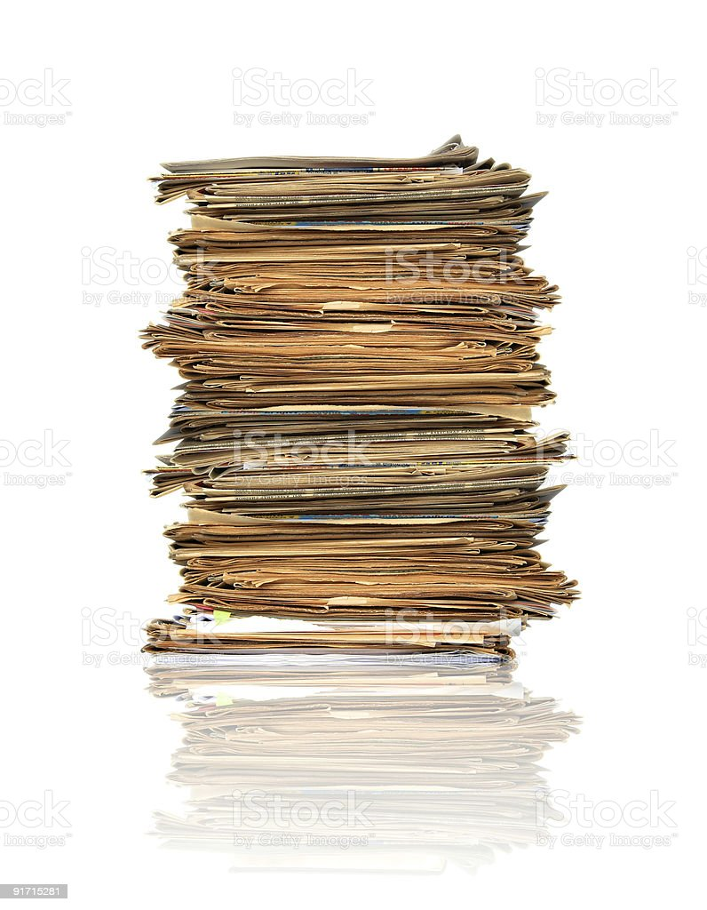 Heap of papers royalty-free stock photo