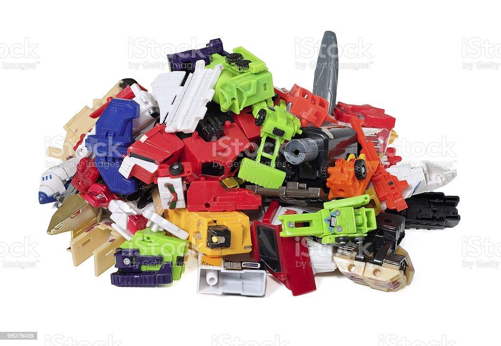 Heap of parts damaged toys royalty-free stock photo