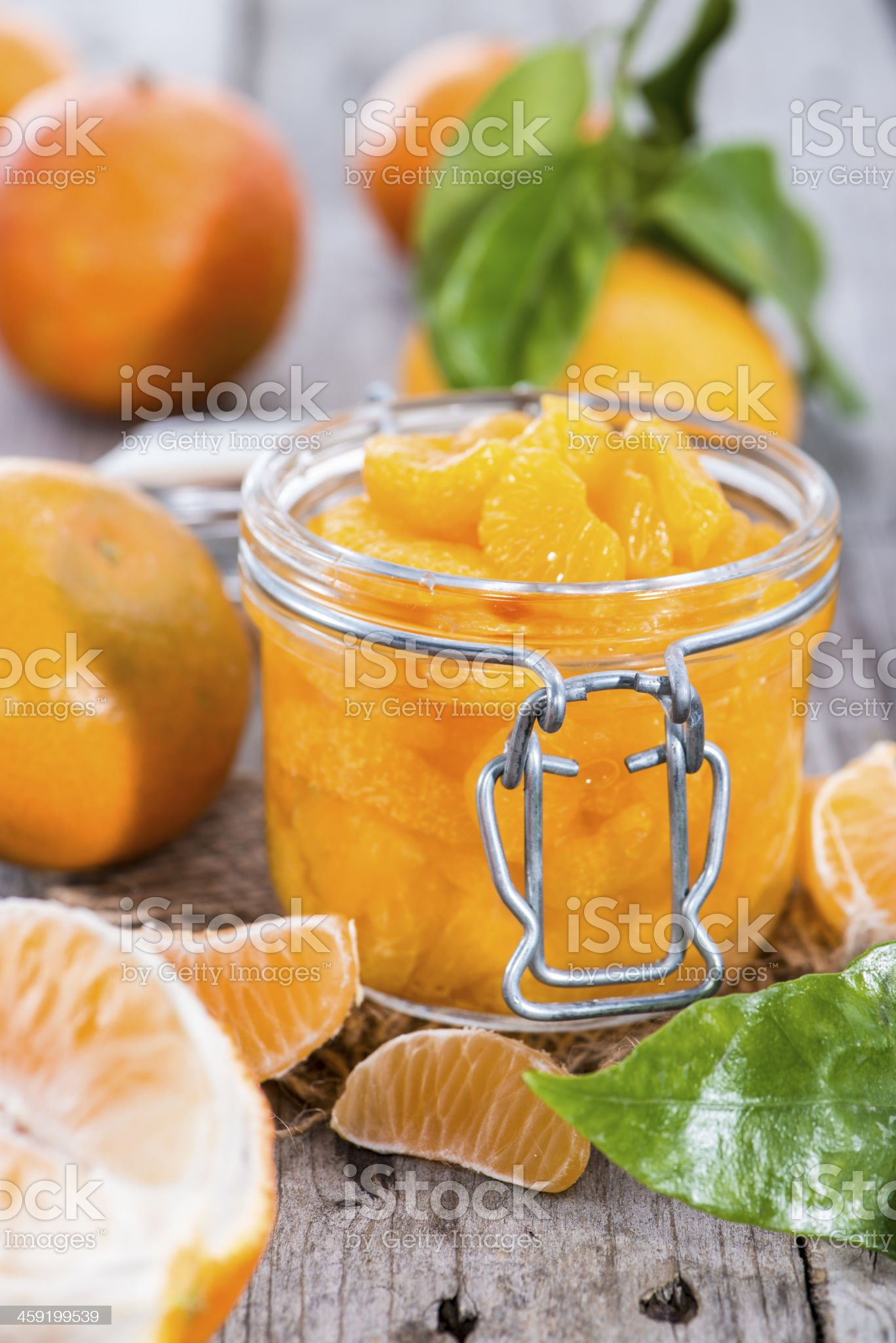 Heap of Preserved Tangerines royalty-free stock photo