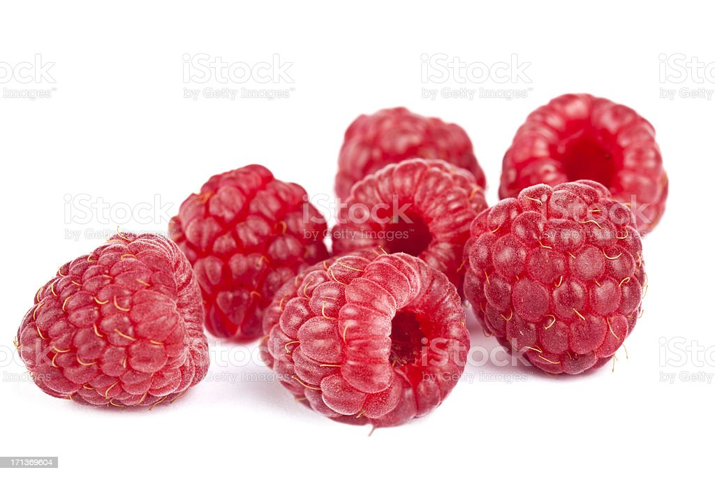 Heap of Raspberries stock photo