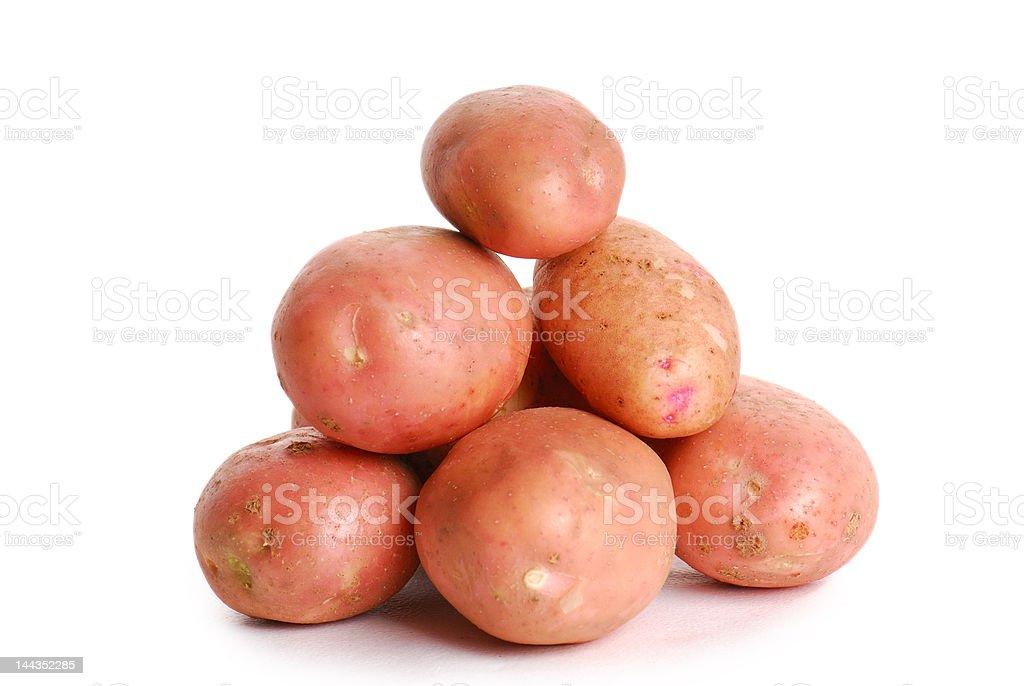Heap of red potato stock photo