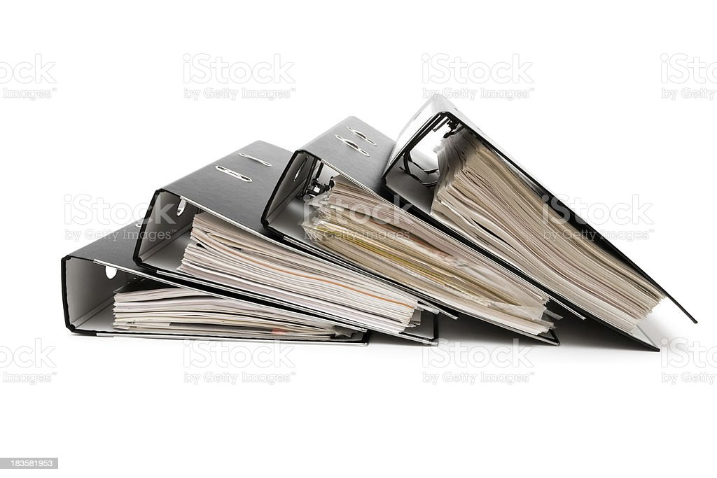Heap of Ring Binders royalty-free stock photo