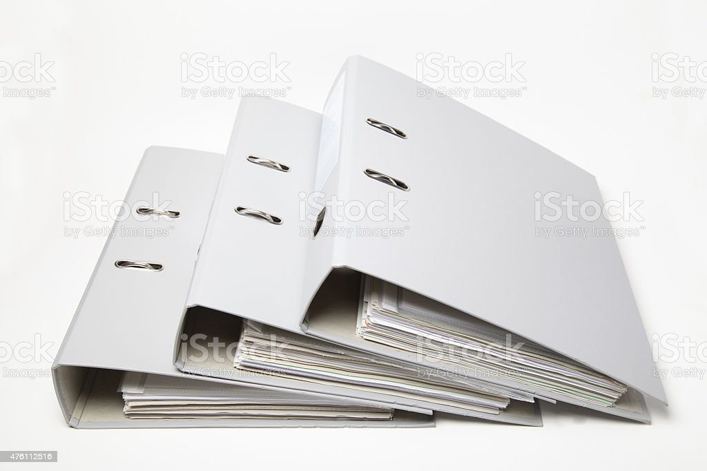 Heap of Ring Binders stock photo