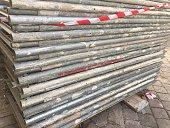 Heap of round metal tubes