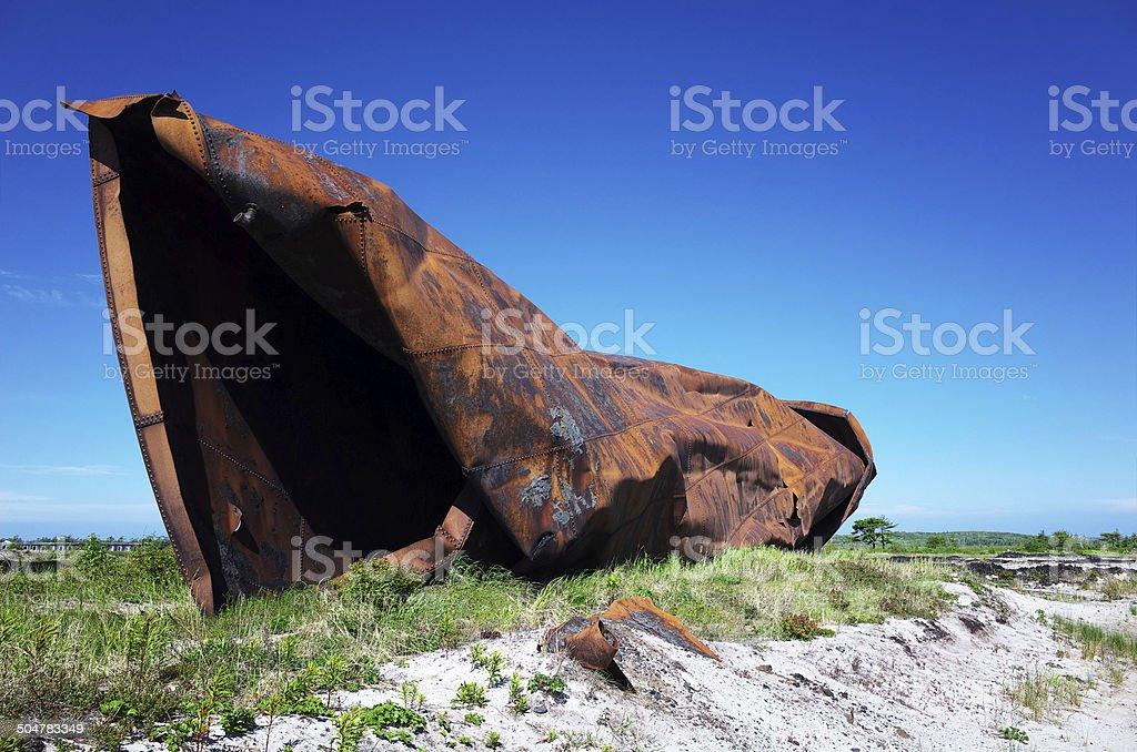 Heap of rusty iron royalty-free stock photo