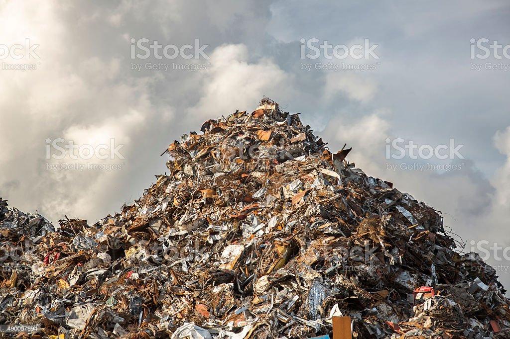 heap of scrap iron stock photo