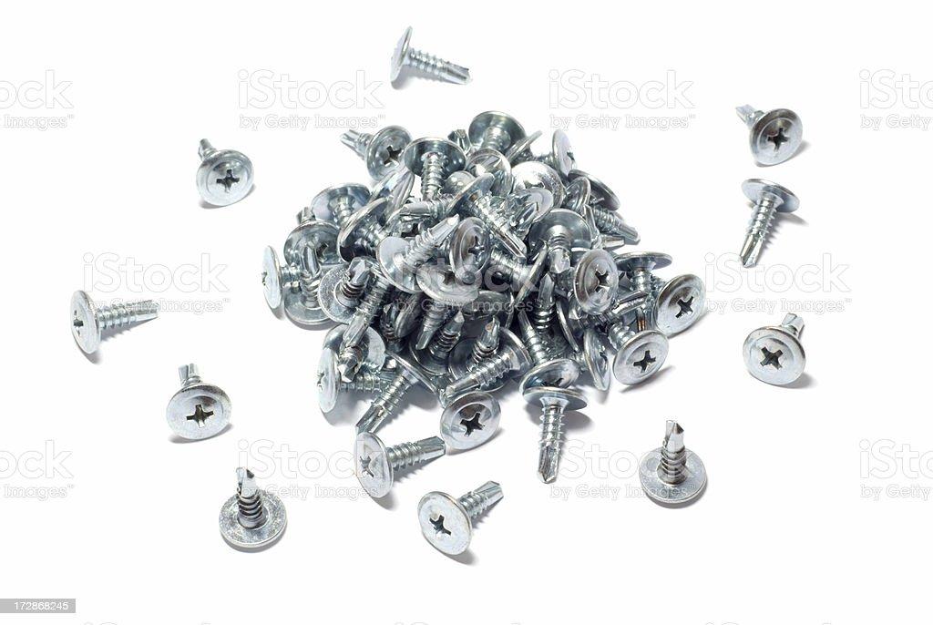 Heap of Screws royalty-free stock photo