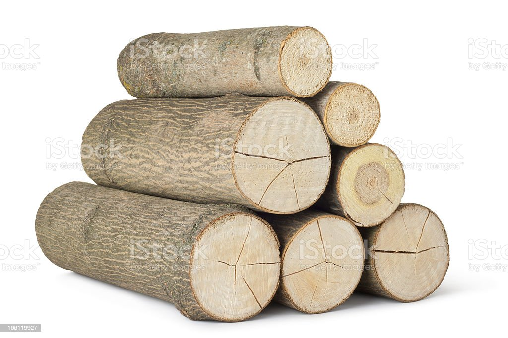 Heap of several logs royalty-free stock photo