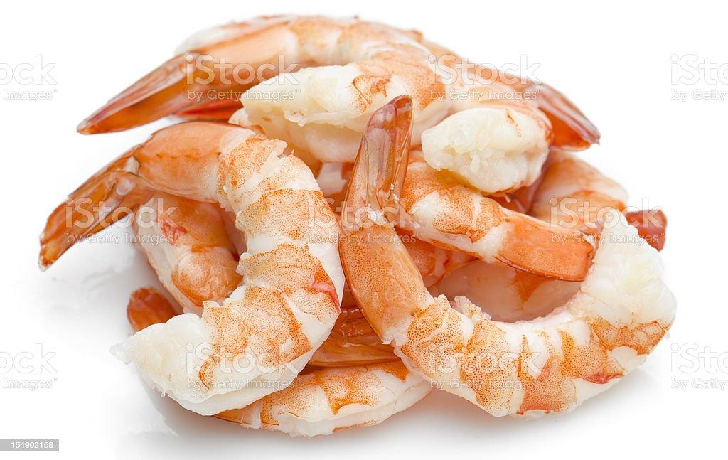 Heap of shrimps stock photo