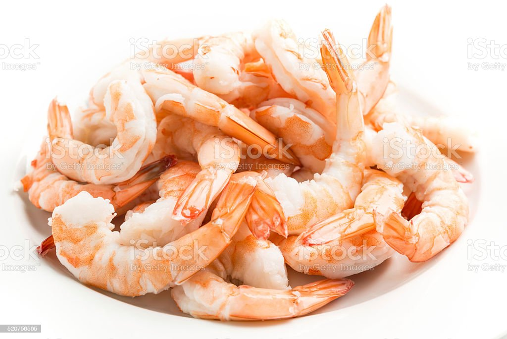 Heap of shrimps stock photo