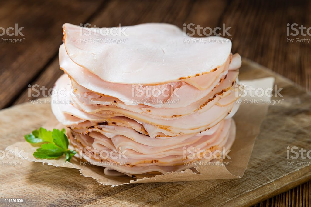 Heap of sliced Chicken Breast Fillet stock photo