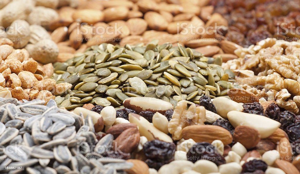 heap of snacks stock photo