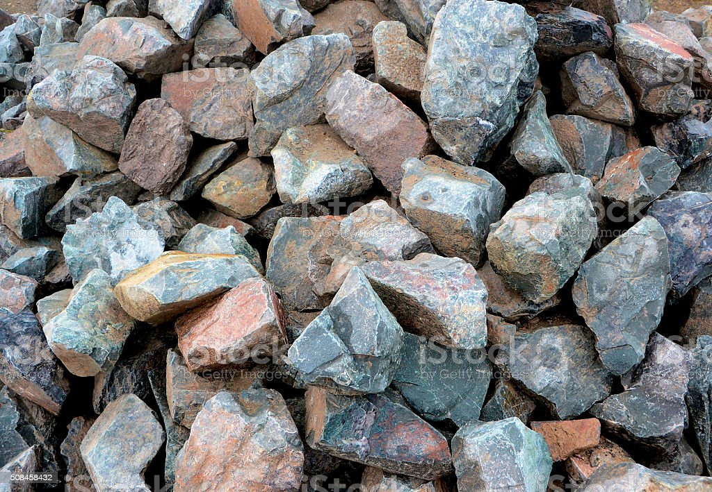 Heap of stones stock photo