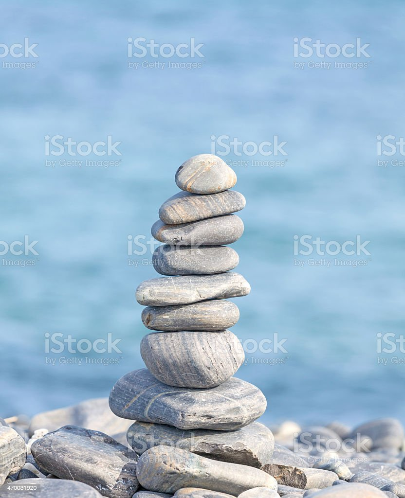Heap of stones, Zen spa concept background. stock photo