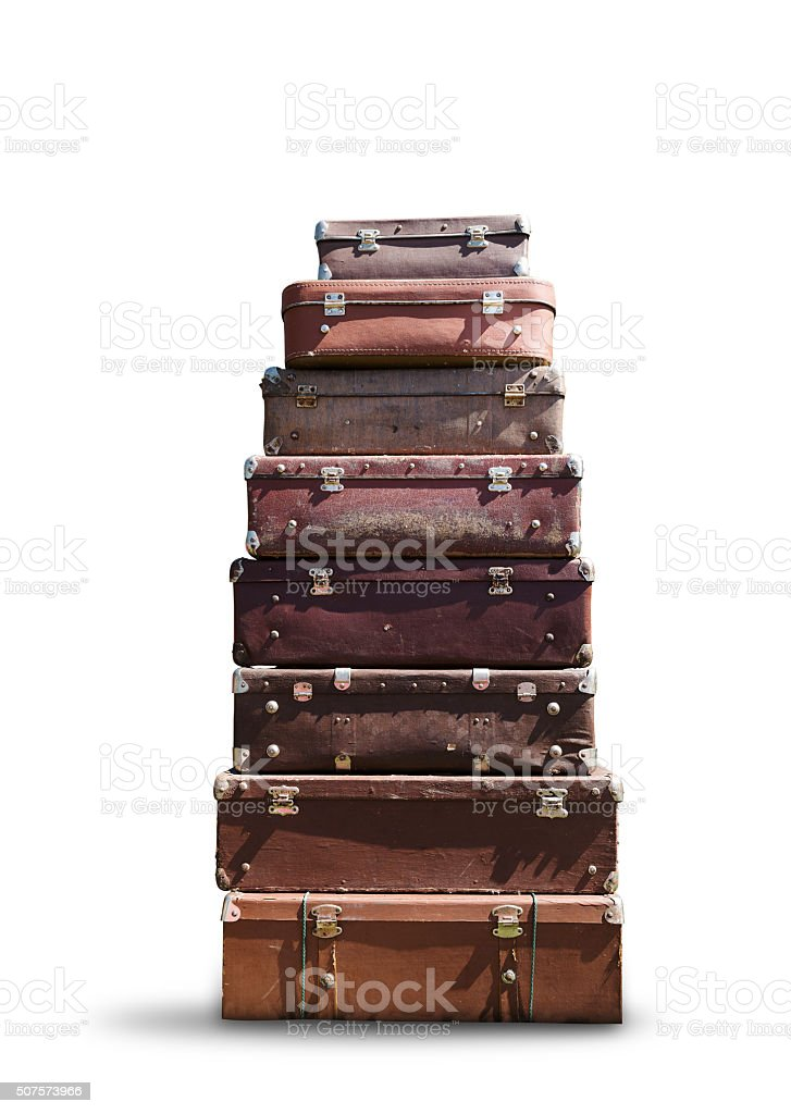 Heap of suitcases stock photo
