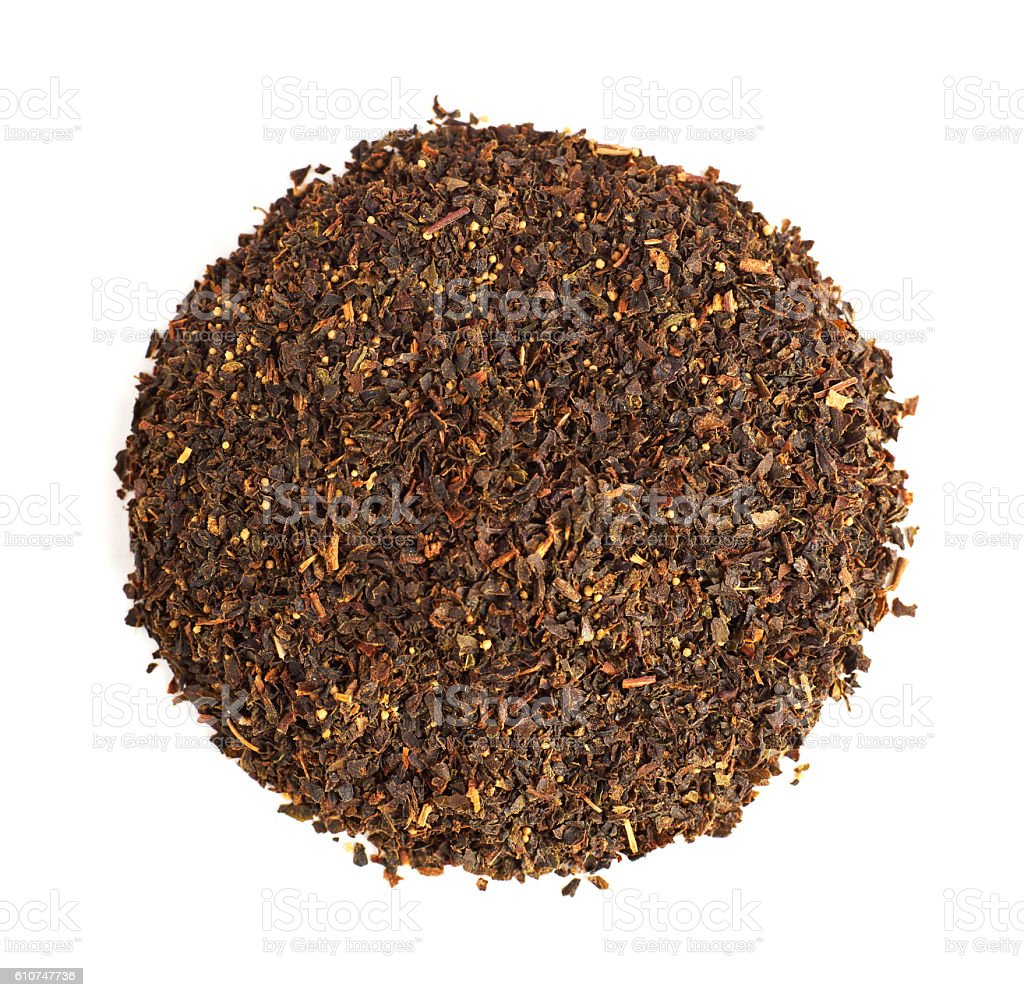 Heap of tea stock photo