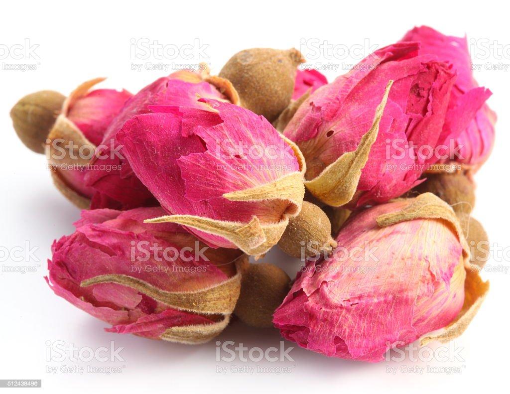 Heap of tea roses. stock photo