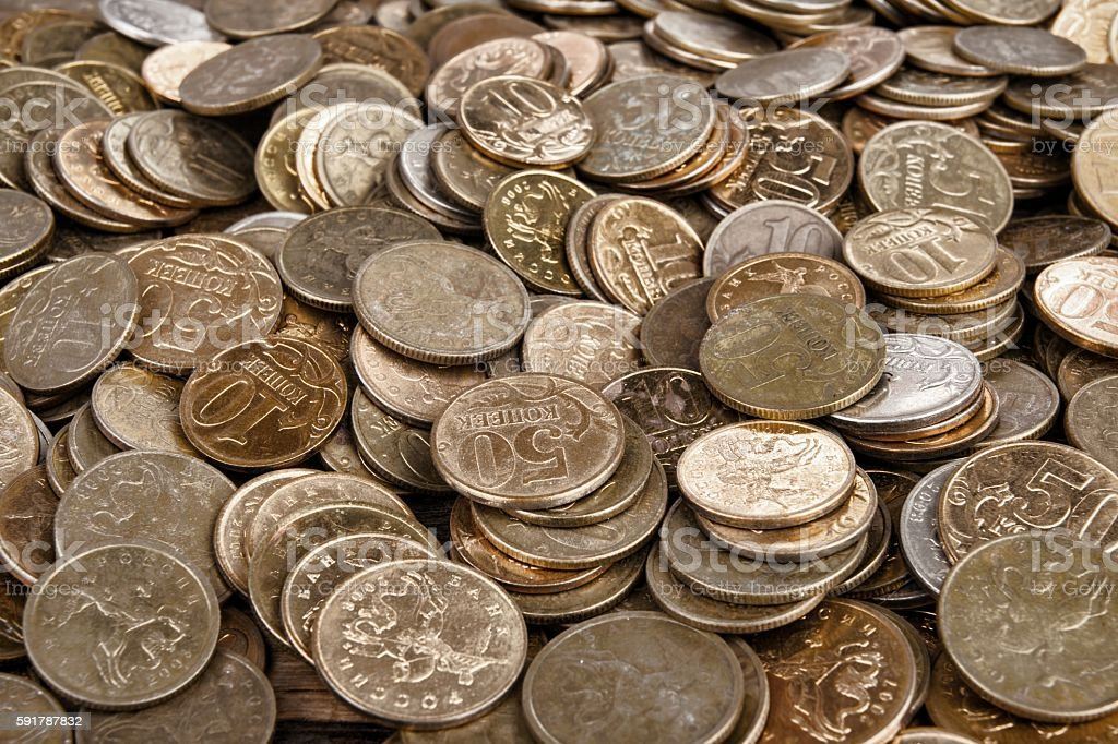 Heap of the coins stock photo