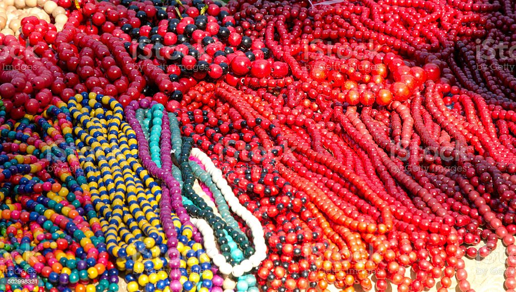 Heap of the motley beads royalty-free stock photo