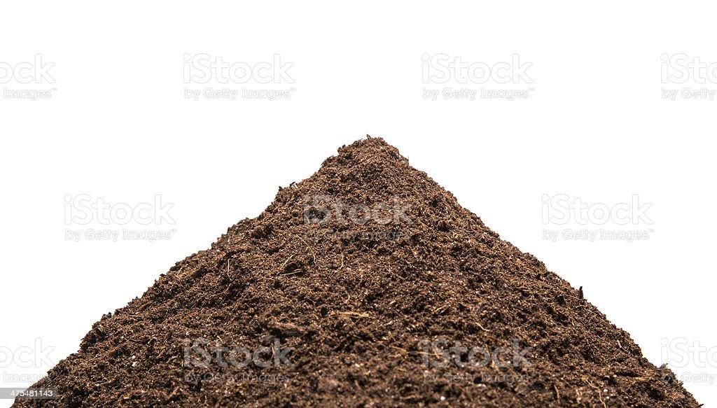 Heap of the soil stock photo