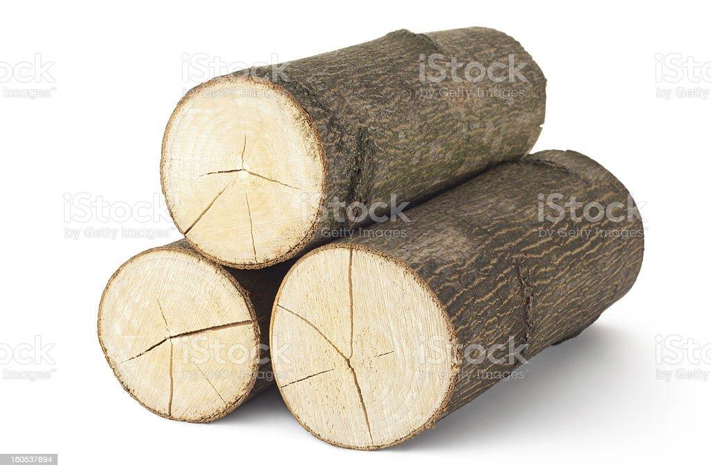 Heap of three logs royalty-free stock photo