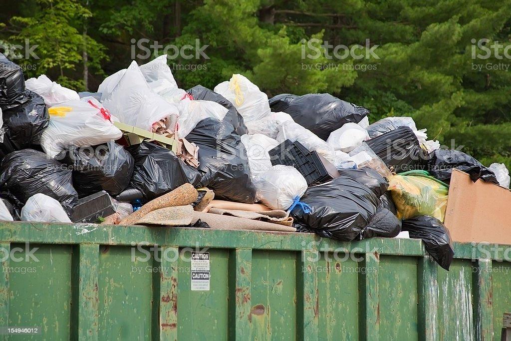 heap of trash bags royalty-free stock photo