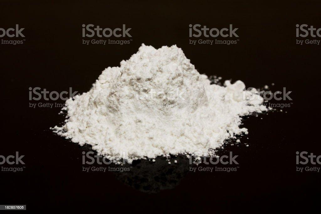 Heap of white powder. stock photo