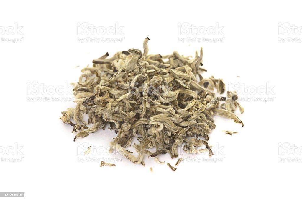 Heap of White Tea stock photo