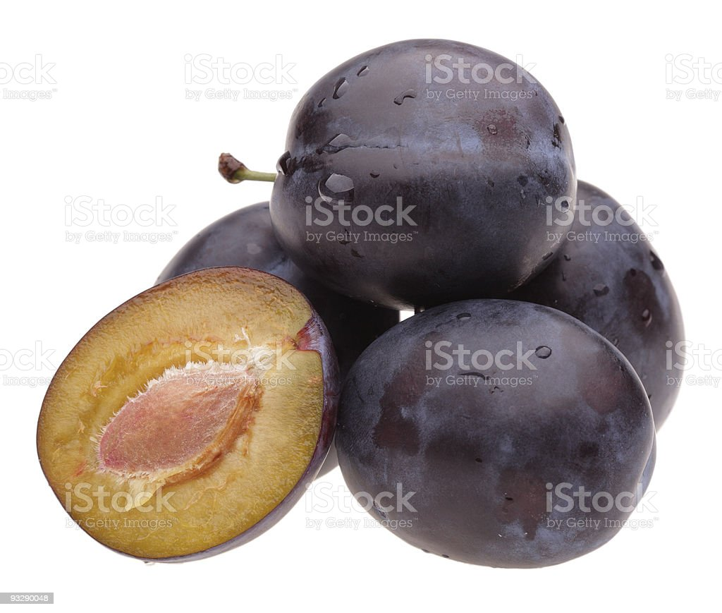 heap plums royalty-free stock photo