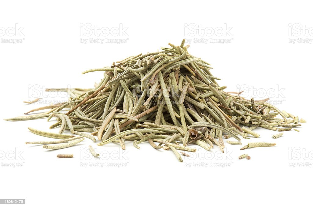 Heap rosemary isolated on white background royalty-free stock photo