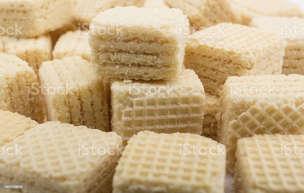heap wafers on a white royalty-free stock photo
