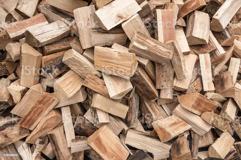 Heap with short logs royalty-free stock photo