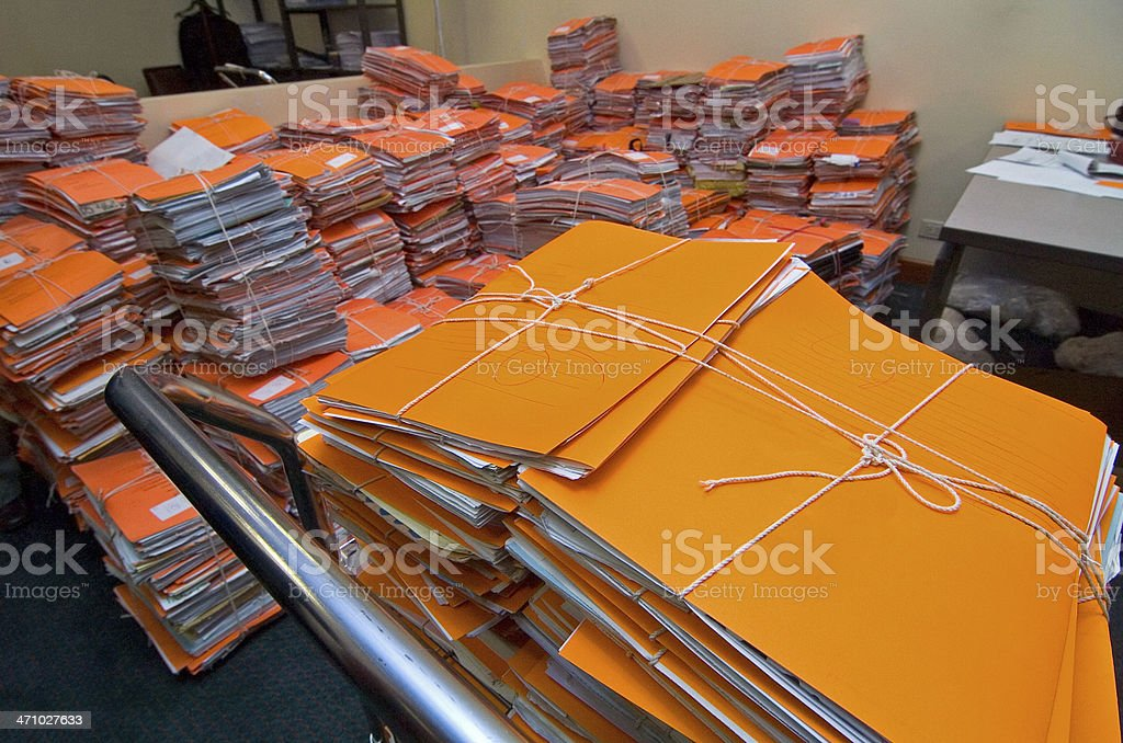 'Heaps' of folders royalty-free stock photo